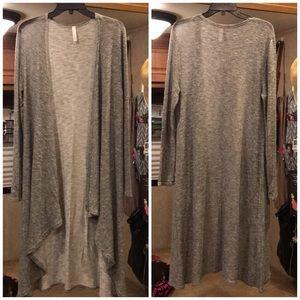 Light weight long sweater cardigan
